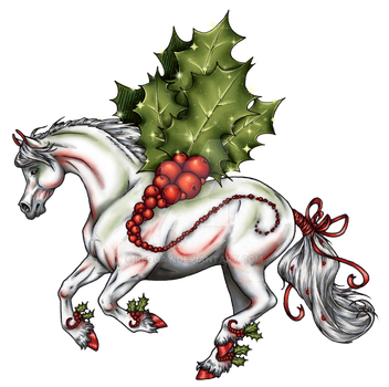 Holly Jolly Christmas Pegasus by ReQuay