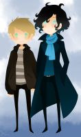 Sherlock Holmes and Dr. Watson by Life-Writer