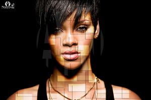 Rihanna Abstract Shapes Effect by AleksandarN