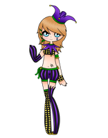 Mardi Gras Girl ADOPTABLE  ~ SOLD ~ by xXxSHIPPOxXx