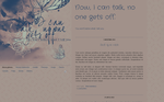 Blogspot template: I can talk by stupid-owl