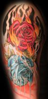 Fire and Ice Roses by theJorell