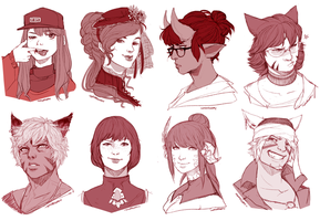 New Years Portraits [part 2] by Momo-Deary