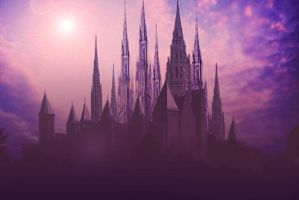 An elven castle by edarlein by Realm-of-Fantasy