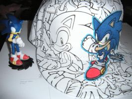 My new sonic hat. by PokepictureFigurefun