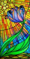 Stained Glass Flower for Papa by KierstenViolette