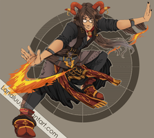 Ram Fire God [SOLD] by LanaluAdopts