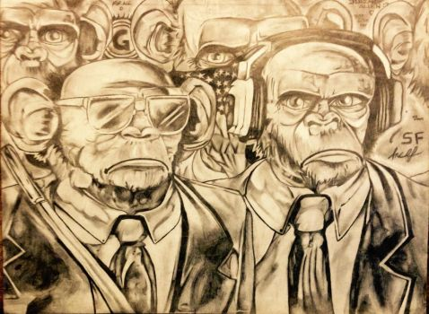 Three Wise Monkeys by Kaneburgness
