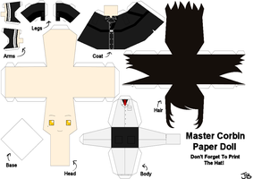 Master Corbin Paper Doll by Frozen-lullaby