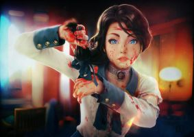 Bioshock Infinite : All i can see is blood ! by makushiro