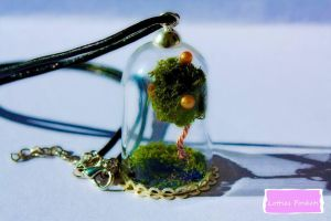 Pondside Tree glass bottle necklace by Lotties-Pockets