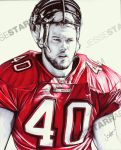 Mike Alstott - Ballpoint Pen by starr2099