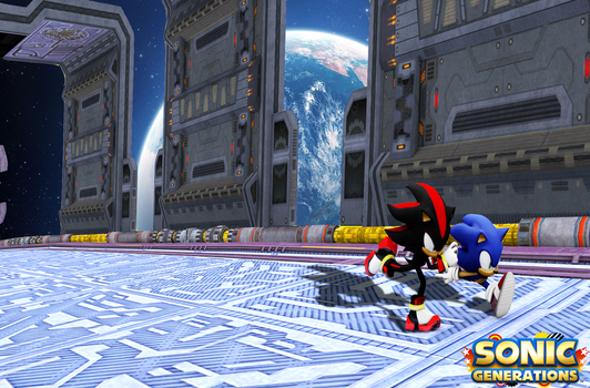 Sonic Generations Wallpaper: Race for the Emerald by Mike9711