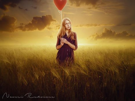 Alone in field by NaouriRedouane1998