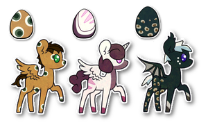 Pattern Egg Hatchlings [1,6,8] by Hazel-Nutty