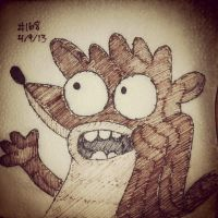 Napkin Art 168 - Rigby - Regular Show by PeterParkerPA