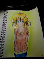Traditional Drawing Anime by isparklehearts