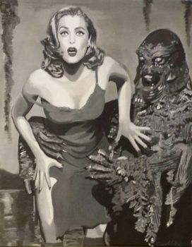 Gillian Anderson vs Swamp Thing by Sarah-Scullbag
