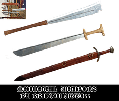 Medieval weapons by Brizzolatto55