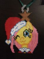 My little Pony Fluttershy Christmas Beads by kratosisy