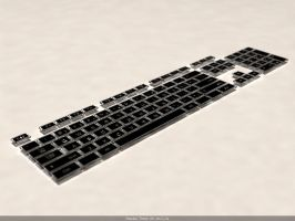 Glass Concept Keyboard W.I.P by Zortje
