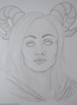Horned Lady by HannaOlsen