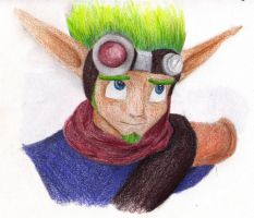 Jak being cute colored by ZoraSteam