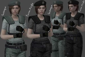 Re Remake Jill Valentine in Black by Frozen-Knight
