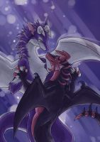 Dragonx2 and Purple by J-C