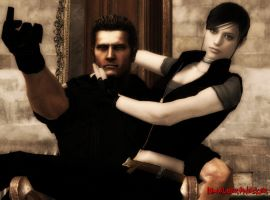 Wesker and Claire - Outtakes A by IamAlbertWesker