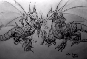 Metal Dragon Family - Shaded by falzelo