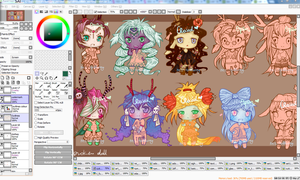Little deer girls adoptables (WIP - OPEN) by ms-villeroy