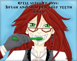 Grell Says: Brush Your Teeth by virtualpapercut