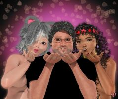 Valentine 1: Kitty, Pandora and some guy by Chronophontes