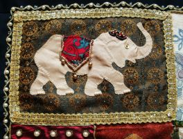 India inspired wall hanging - Detail 1 by RevelloDrive1630