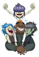 .:A Band of Gorillaz:. by faster-by-choice
