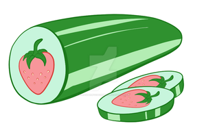 Business card logo - Strawberry Cucumber by StrawberryCucumber