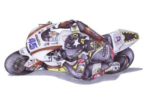 Ballpoint Pen, 45, Scott Redding by onecuriouschip