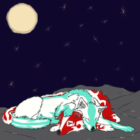 Midoriko and Moritsune  under the stars by AniuNinetails