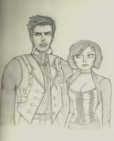 Booker And Elizabeth Sketch by toughraid3r37890