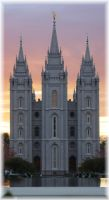 Temple Square Sunset by Stellatigirl