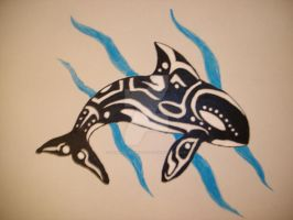 Tribal Orca Painting by NamineEveningLight