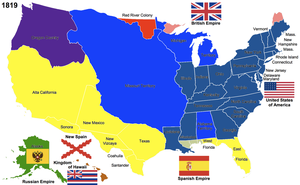 The United States, 1819 by Hillfighter
