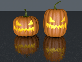My 4D Jack O' Lanterns by SeaSerpentine