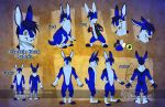 Captain Buck Rabbit Reference Sheet by bluekoinu