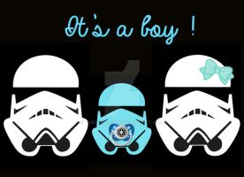 Stormtroopers Birth Announcement (Boy) by Thelema001