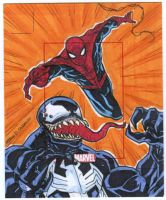 VENOM vs SPIDERMAN Artist Proof commission by mdavidct