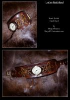 Leather Watchband Celtic Knot by Darya87
