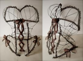 Wire Corset by MachineGun-Baby