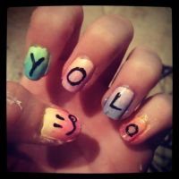YOLO nails by haley-loves-you